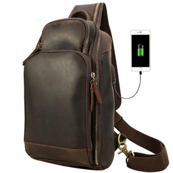 Genuine Leather Crossbody Waist Chest Bag